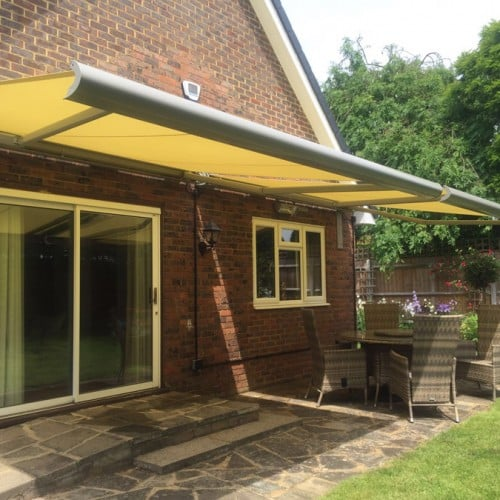 A very wide Patio Awning